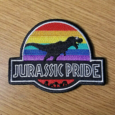 Jurassic Pride Patch 3 1/2 inches wide