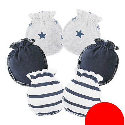 3 Pairs Baby Mittens Girls Boys Anti Scratch Mitts Newborn Toddler Handguard WO