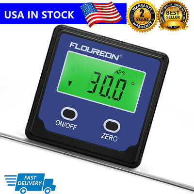 LCD Angle Cube Digital Magnetic Protractor Gauge Level Angle Finder Inclinometer
