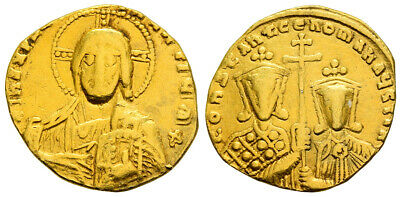 FORVM Byzantine Empire Constantine VII and Romanus II Gold Solidus