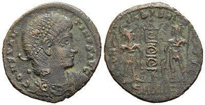 FORVM RARE Constantine II Antioch AE16 Glory of the Army Soldiers and Standard