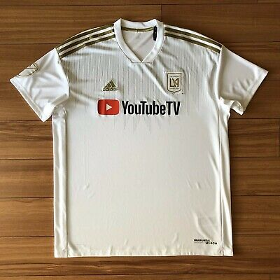80e5f2e12b2 adidas LAFC 2018 Away Stadium SS Jersey - White Dark Gold Sz XL CE3281