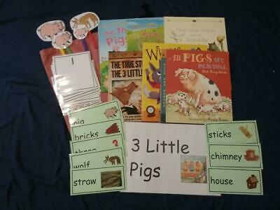 Fairy Tales- The Three Little Pigs Story, Resources, Books & Sack EYFS/KS1