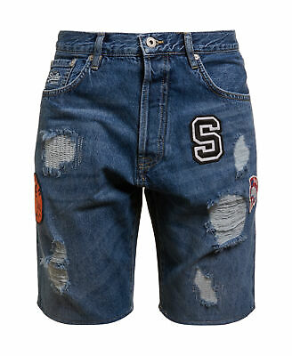 New Mens Superdry Tapered Shorts Waterfall Vintage Patch