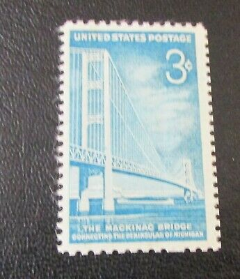U.S. STAMP--[Single]--MACKINAC BRIDGE--(1958)--Scott#1109--<Unused>