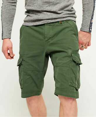 New Mens Superdry Core Cargo Lite Shorts Pine