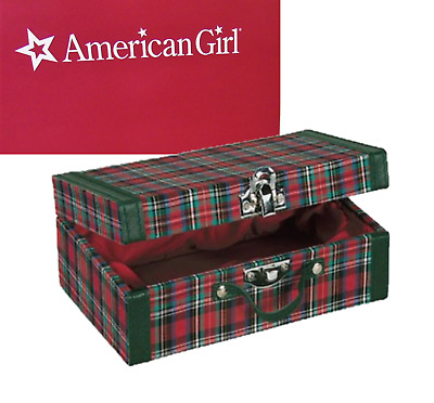 American Girl Doll MOLLY PLAID SUITCASE Chest Trunk Accessories Clothes Storage