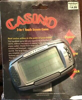 with Stylus Radio Shack 60-2743 Radioshack Casino 3-in-1 Touch Screen Game Solitaire, Poker, and Blackjack