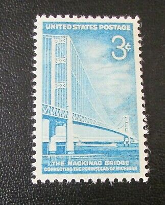 U.S. STAMP--[Single]--THE MACKINAC BRIDGE--(1958)--Scott#1109--<Unused>