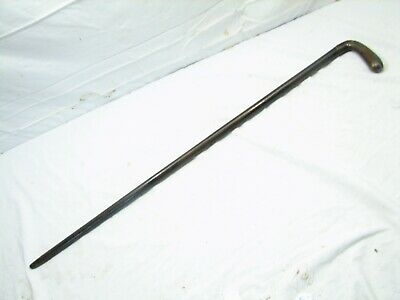 Antique Sterling Silver Overlay Handle Cane Ornate Walking Stick Victorian