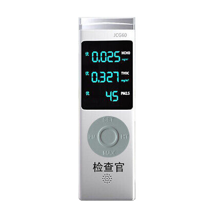 Digital Display USB Rechargeable PM1.0/PM2.5/PM10 TVOC HCHO Formaldehyde E9G4