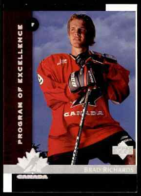 1997-98 Upper Deck Program Of Excellence Brad Richards Rookie ! #418