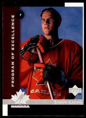 1997-98 Upper Deck Program Of Excellence Simon Gagne Rookie ! #411