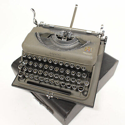 Vintage Imperial Good Companion Model T Typewriter Grey w/ Case Manual Machine