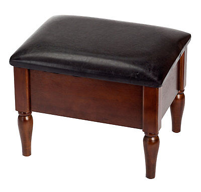 """Faux Leather 15.75"""" Long Wooden Foot Rest Ottoman with Storage by OakRidge™,"""