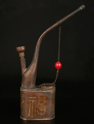 Exquisite Chinese Bronze Hand Carving Smoking Tools Gift Collection Decora  M