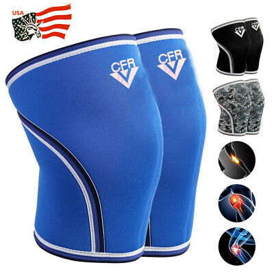 ab50a5ec32 7mm 2x Knee Sleeves Support Compression Brace Squats Weightlifting  Powerlifting