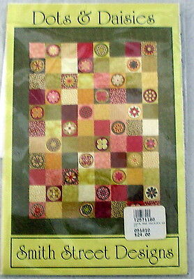 Dots Daisies Quilt Pattern Smith Street Designs Machine Embroidery unused