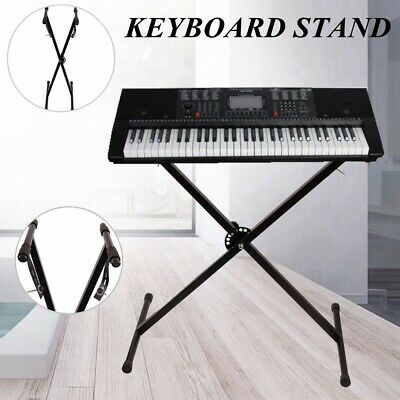 Keyboard Piano X Stand Electric Organ Rack METAL Height Adjustable For 61 76 Key