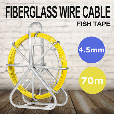 Fish Tape Cable Electrical Wire Rods Stick Fiberglass w//Hook /&Noodler 14ft White