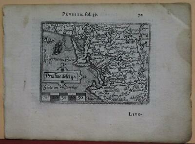 Poland Prussia Germany 1577 Ortelius & Galle Unusual First Edition Antique Map