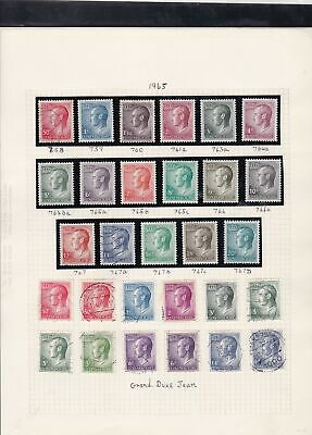 luxembourg stamps page ref 16871
