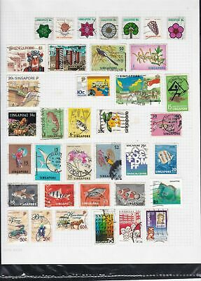 singapore stamps page ref 18234