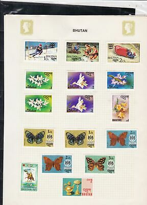 bhutan stamps page ref 16913