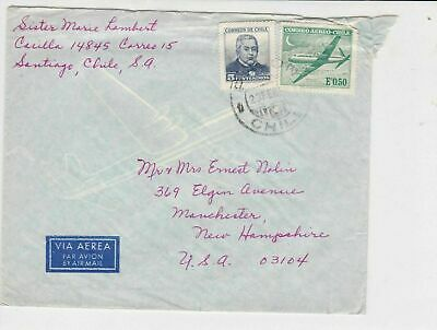chile stamps cover ref 19528