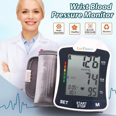 Automatic Wrist Blood Pressure Cuff Monitor with Portable Case 2 User Mode