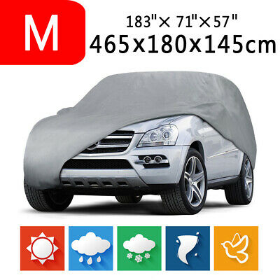 M Full Car Cover Waterproof Outdoor Indoor for Auto SUV All Weather Protection