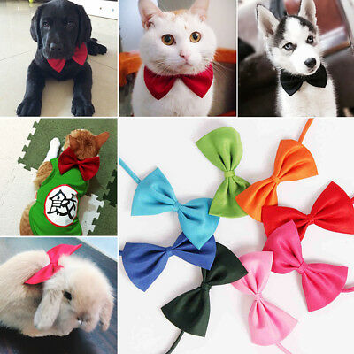 2Pcs Bow Tie Necktie Collar Dog Cat Small Animals Pet Puppy Clothes Accessories
