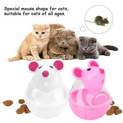 Cute Cat Pet Food Dispenser Toy Ball Dog Puppy Treat Training Interactive Feeder