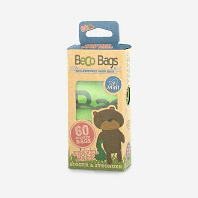 Beco Degradable Plastic Free Eco Friendly Poop Bags (Mint Scented) - 60 bags