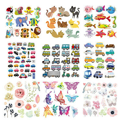 Flower Patches Iron On Clothes Stickers DIY Thermal Transfer Printed Decor Art
