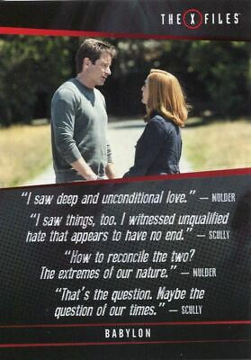 X Files Seasons 10 /& 11 Quotable X Files Chase Card Q11