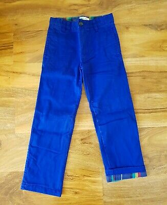Mini Boden Boys BLUE DOUBLE LAYERED Trousers ELASTICATED BAND Brand new B0078