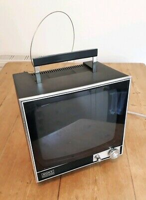 Sony Black And White TV Television Model Number TV-110UK Vintage Prop 1970s 70s