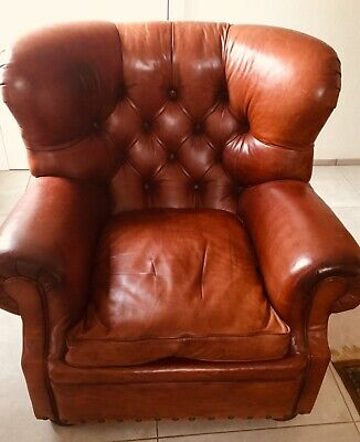 Writers Chair Ralph Lauren tufted brown mittel braun London 2008 sehr guter Zust