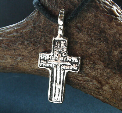 POST MEDIEVAL BRONZE CROSS PENDANT - wearable