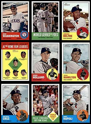 2012 Topps Heritage Texas Rangers Almost Complete Team Set  NM/MT