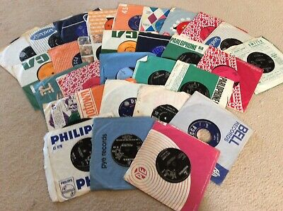 """Job lot collection of 30 X 7"""" singles 45s from the 1950s and 1960s"""