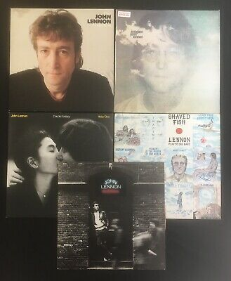 JOHN LENNON YOKO ONO Collection IMAGINE PROMO/ROCK/FISH/FANTASY  VINYL 5LP LOT