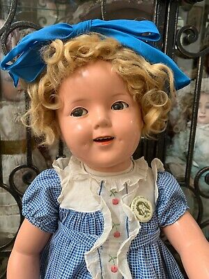 RARE Large Vintage 1930's Ideal Shirley Temple Composition Flirty Eye Doll