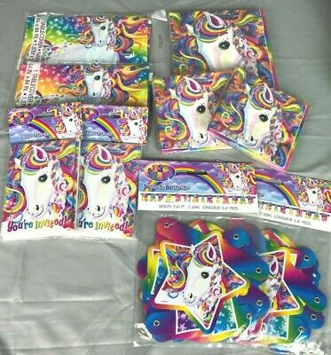 RAINBOW MAJESTY LISA Frank Unicorn Birthday Party Supplies 16 Napkin