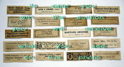 Violin Labels Old copies for the decoration of music shops(set 1389)