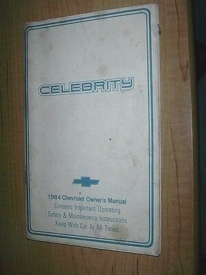 1984 Chevrolet Celebrity Owners Manual