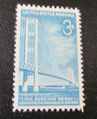 U.S. STAMP--[Single]--MICHIGAN-MACKINAC BRIDGE--(1958)--Scott#1109--<Unused>