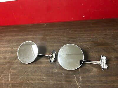 """Ford Chevy Dodge Ratrod 4"""" Door Peep Mirrors Nors Kns 519"""