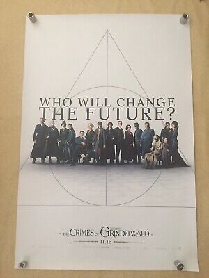 """FANTASTIC BEASTS """"THE CRIMES OF GRINDELWALD"""" Original movie poster D/S 27x40"""